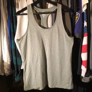 Grey Nike Dry Fit Racer Back Top